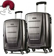 Samsonite Winfield 2 Fashion 2 Piece Set Spinner 20 and 28 With Travel Pillow