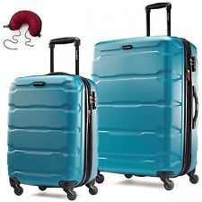 Samsonite Omni PC 2 Piece Set Spinner 24 and 28 With Travel Pillow
