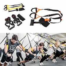 Suspension Trainer Straps Fitness Kit Body Weight Exercise Training Home Gym