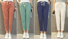 Stylish Womens Candy Color Ninith Trousers Loose Casual Harem Baggy Sweat Pants