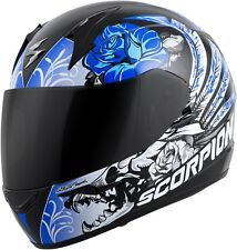 Scorpion EXO-R410 Novel - Full-Face Street Motorcycle Helmet - Black/Blue