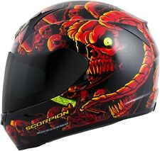Scorpion EXO-R410 Dr. Sin - Full-Face Street Motorcycle Helmet - Red/Yellow