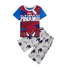 Toddler Boy Kids Baby Spiderman Pajamas Top Pants Outfit Summer Shorts Costume