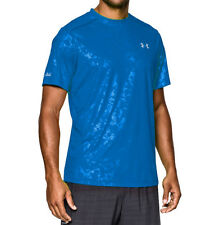 under armour mens coldblack run short sleeve running shirt fitted blue jet sizes