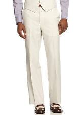 SEAN JOHN Flat Front Dress Pants Cream Striped Regular Fit Suit Separates $120