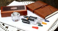 WANCHER CRYSTAL DOUBLE COMPACT Transparent Demonstrator Fountain Pen-All Colors