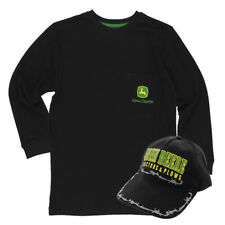 John Deere Big Boys Long Sleeve Tee and Youth Baseball Hat Set JDKIT117