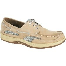 Mens Sebago Taupe Comfort Leather Clovehitch II Boat Shoes B24302 Size 7-15 (M)