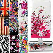 Folding Flip Stand Card Slots PU Leather Protective Case Cover For Mobile Phones