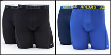 "NEW Men's Adidas ClimaCool Athletic-Fit Micro Mesh Boxer Briefs Midway 9"" 2-pack"