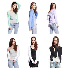 Lady Slim Knitted Long Sleeves Cardigan Coat Jacket Outwear Casual Sweater Color