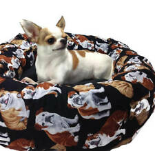 English Bulldog   Round Pet Bed – Group One Dog Gallery®