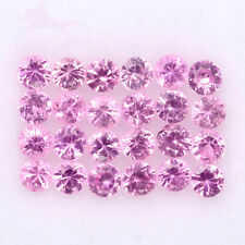 BEAUTIFUL LOT! 1.09CT/24p ROUND 2.0mm TOP DIAMOND CUT NATURAL PINK SAPPHIRE #4