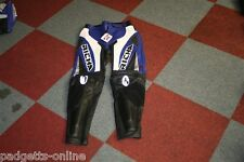 RICHA MENS BLUE WHITE BLACK MOTORCYCLE MOTORBIKE LEATHER TROUSERS - SIZE UK 34