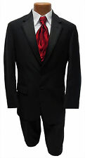 Mens Size 46R Black  Ralph Lauren Newport Jacket & Pants Wedding Tuxedo