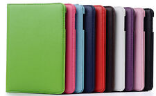 Durable 360° Rotating PU Leather Stand Holder Case Cover Skin For iPad mini 4