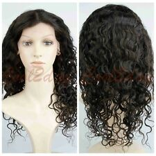 Women 100% Virgin Human Hair Wave Curly Wigs Lace Front Wig /Full Lace Wigs