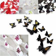 12pcs 3D Butterfly Sticker Art Design Decal Wall Stickers Home Room Decorations