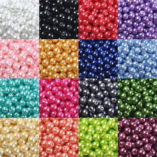 LOT Wholesale Glass Pearl Round Spacer Loose Beads 4mm/6mm/8mm/10mm