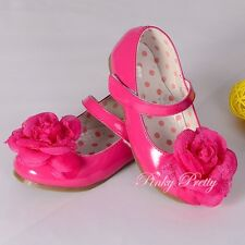 Rose Mary Janes Formal Shoes Size UK5.5-12 EU 22.5-30 Wedding Flower Girl GS012