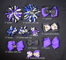 Baltimore Ravens Themed Hair Bows Korkers Classic Bottle Caps U-Pick