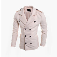 Fashion Stylish Sexy Men's Slim Fit Breasted Business Casual Coat Jacket Hot