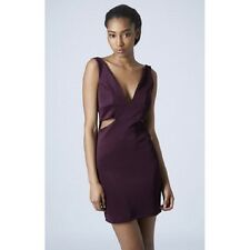 Gorgeous NEW TOPSHOP PURPLE cut out side BODYCON SHIFT DRESS RRP £38, 6 8 10 12