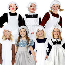 Victorian Poor Girls Fancy Dress Childrens Book Week Kid Child Character Costume