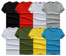 Mens Slim Fit Casual Shirt Short Sleeve T-Shirt Muscle Cotton Crew Neck Tee  gg