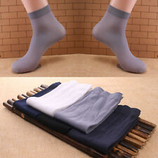 10 Pairs Men's Soft Ultra Thin Summer Comfortable Anti-odor Short Socks 5 Colors