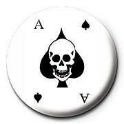 Motorhead Ace of Spades White & Black Badge