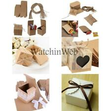 50Pcs Kraft Paper Candy Gift Boxes Wedding Party Favors