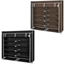 Black/Brown Shoe Storage Rack Wardrobe 5 Tier Shelf Organiser Cabinet Holder