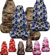 1987-2006 Jeep Wrangler Front Set CAR Seat Covers, CHOOSE 25 COLORS