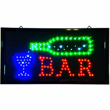 Animated LED open BAR Sign Bright Light shop pub beer display neon pub cold club