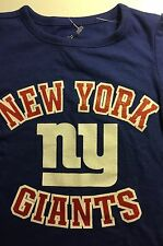 NewYork Giants Football NFL Girls Sparkle Long Sleeve Tshirt