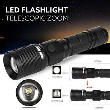 5000LM Super Bright Zoomable CREE XML T6 LED Tactical Flashlight Torch Light NEW