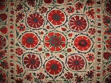 LOOK!!! BEAUTIFUL UZBEK SILK HANDMADE EMBROIDERY BUKHARA LARGE SUZANI