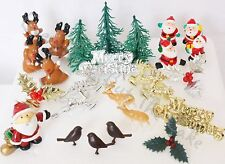 Christmas Cake Topper Decorations Santa Reindeer Holly Robins Motto