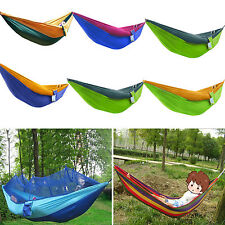 Portable Outdoor Hammock Canvas Camping Swing Hanging Single/Double/Mosquito Net
