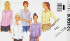 PATTERN Butterick Sewing Classic Top/Blouse Vintage 2000 EASY Sz 6-10 NEW OOP