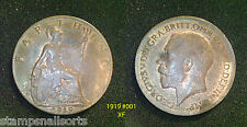 King George V Farthing 1919 High Grade VF - UNC. Choose your coin