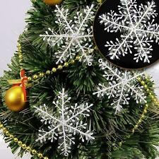30pcs White Snowflake Ornaments Christmas Xmas Tree Hanging Decorations