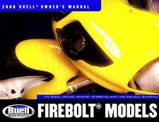 2006 BUELL FIREBOLT OWNERS MANUAL -NEW SEALED-BUELL FIREBOLT XB9R & XB12R