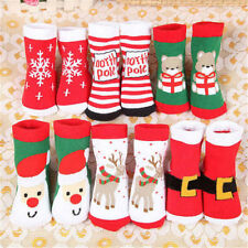 Lovely Cartoon Winter Warm Christmas Thick Cotton Terry Socks Baby Girl Boy Gift