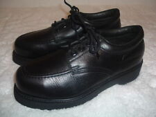 Iron Age Black Leather Comfort Steel Toe Oxfords Footwear Mens Used Shoes 7 EE