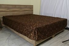 One Bed Skirt/valance 100% Egyptian Cotton 15 Inch Drop 1000 TC Leopard Print