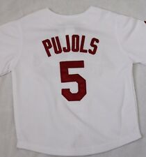 NEW Infant Toddler MAJESTIC St Louis CARDINALS White PUJOLS Baseball MLB Jersey