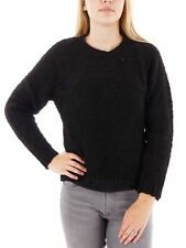 O'Neill Pullover Top Wool sweater Boucle black crew neck warming