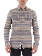 O'Neill Shirt Flannel shirt Collar Violator beige Poppers Stripes
